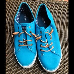 Sperry Top-Siders Sneakers Canvas Turquoise Blue